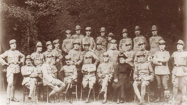 gli ufficiali della  145 cp in foto