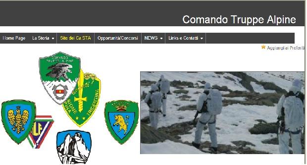 sito comando truppe alpine